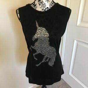 Black Unicorn Tee Shirt